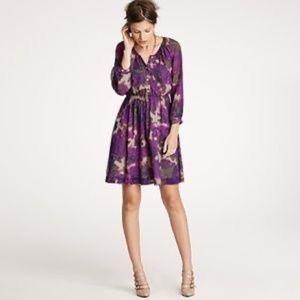 J. Crew Maisie Floral Silk Dress Size 0